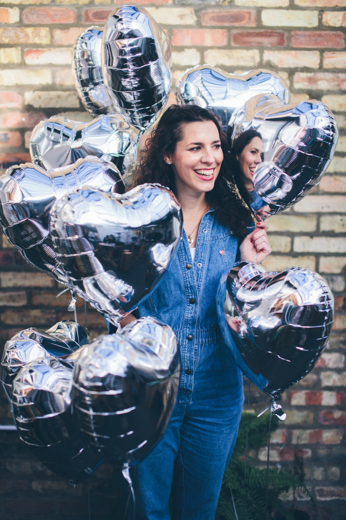 Selina with balloons